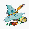 Scarecrow Hat From Wizard Of Oz by Irina Sztukowski