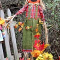 Scarecrow In The Garden by Gayle Miller