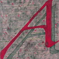 Scarlet Letter With Green Background by Mary VanDenBerg