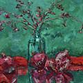 Scarlet Pomegranates by Eugene Khmelev