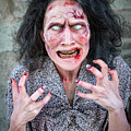 Scary Angry Zombie Woman by Matthias Hauser