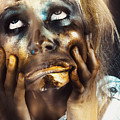 Scary Zombie Pulling Funny Face  by Jorgo Photography - Wall Art Gallery