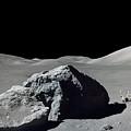 Scene From Apollo 17 Extravehicular by Stocktrek Images