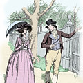 Scene From Sense And Sensibility By Jane Austen by Hugh Thomson
