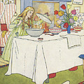 Scene From The Story Of Goldilocks And The Three Bears by Leonard Leslie Brooke