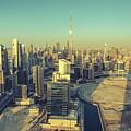 Scenic Aerial View Of Dubai by Dmitrii Telegin