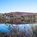 Scenic Lake On The Kancamangus by Debra Forand