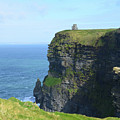 Scenic Lush Green Grass And Sea Cliffs Of Ireland by DejaVu Designs