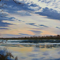 Scenic Overlook - Delaware River by Lea Novak