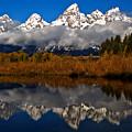Scenic Teton Fall Reflections by Adam Jewell