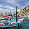 Scenic View Of Historical Marina In Nice, France by Liesl Walsh