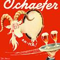 Schaefer Beer Vintage Ad by John Farr