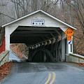 Schlicher's Covered Bridge Before Renovation by Ken Keener