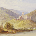 Schloss Stolzenfels From The Banks Of The Lahn by William Callow