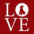 Schnauzer Love Red by Nancy Ingersoll
