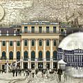 Schonbrunn Palace Vienna Travel Map by Sharon Popek