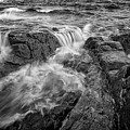 Schoodic Point In Black And White by Rick Berk