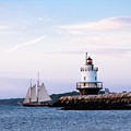 Schooner At Spring Point, South Portland, Maine 58757 by John Bald