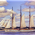 Schooner Mystic Under Sail by Joe Geraci
