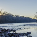 Schuylkill River Sunrise Linfield Pa by Bill Cannon