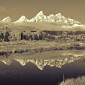 Schwabacher Landing Sepia Toned by Greg Norrell
