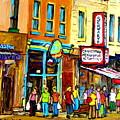 Schwartz's Hebrew Deli On St. Laurent In Montreal by Carole Spandau
