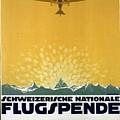 Schweizerische Nationale Flugspende - Flight Donation - Retro Travel Poster - Vintage Poster by Studio Grafiikka