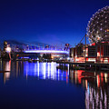 Science World And Fireworks by Alan W