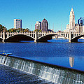 Scioto River With Waterfall by Panoramic Images