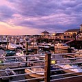 Scooping Marina Views From Ice Cream Shop by MaryLou England