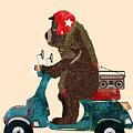 scooter bear by Bri Buckley