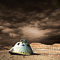 Scorched Space Capsule In Barren by Marc Ward