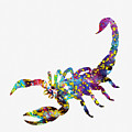 Scorpion-colorful by Erzebet S