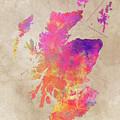 Scotland Map by Justyna JBJart