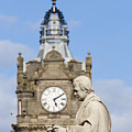 Scott Statue And Balmoral Clock Tower by Travis Rogers