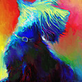 Scottish Terrier Dog Painting by Svetlana Novikova