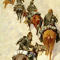 Scouts Climbing A Mountain by Frederic Sackrider Remington