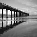 Scripps Pier Black And White by Cliff Wassmann