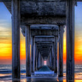 Scripp's Pier Sunset La Jolla California by Gigi Ebert