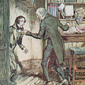 Scrooge And Bob Cratchit by Arthur Rackham