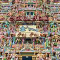 sculptures on Arulmigu Kapaleeswarar Temple, Chennai, Tamil Nadu by Henning Marquardt