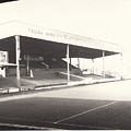 Scunthorpe United - Old Showground - Main Stand 1 - Bw - 1960s by Legendary Football Grounds