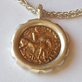Scythian King Ancient Coin Necklace by Clayton Peshlakai