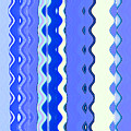 Sea Blue Wave Tapestry by Ann Johndro-Collins