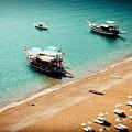 Sea Boats In The Laguna by Raimond Klavins
