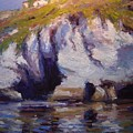 Sea Cliffs In Afternoon Light by R W Goetting