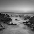 Sea Girt Nj Sunrise Bw by Michael Ver Sprill