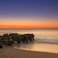 Sea Girt Pilings  by Michael Ver Sprill