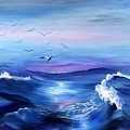 Sea Gulls Surf by MJ Cooper
