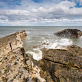 Sea Meets Rocks At Howick by David Head